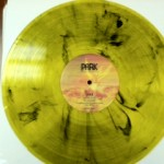 clear yellow with black - please note can have greenish tint in certain lights - see other pic 1
