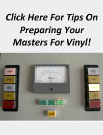 Vinyl Mastering Info